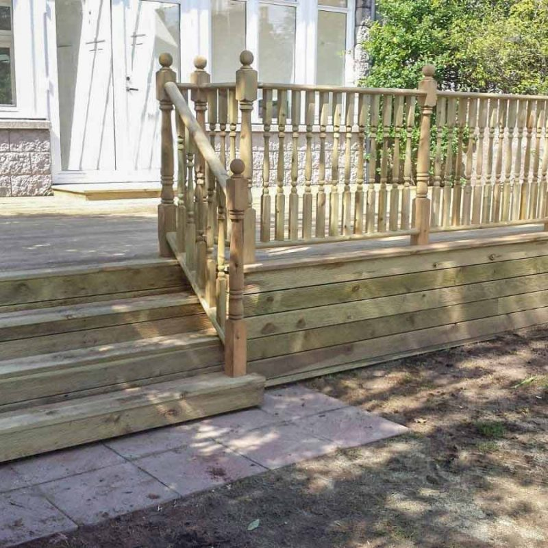steen property landscape gardening decking