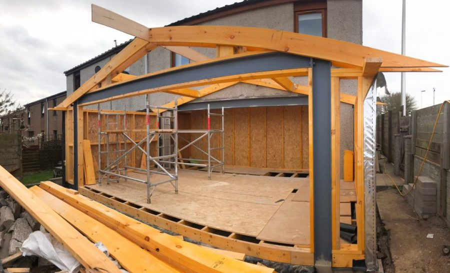 Home Extension Frame Installation