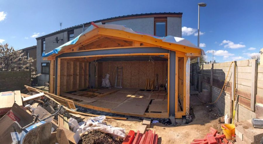 Home Extension Exterior View Timber Frame Fitting